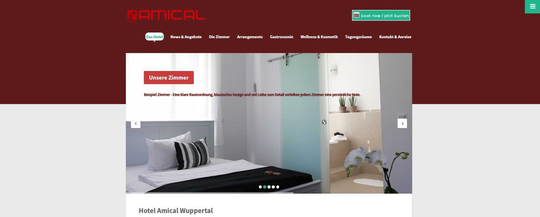 Portfolio archiv it bergischesland webdesigner for Hotel amical wuppertal
