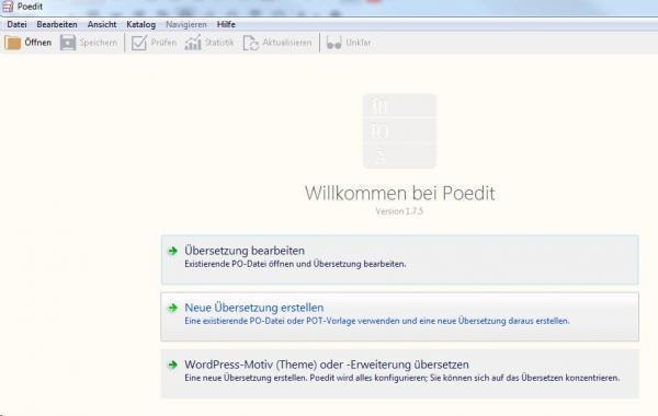 Wordpress Theme Übersetzung mit PoEdit