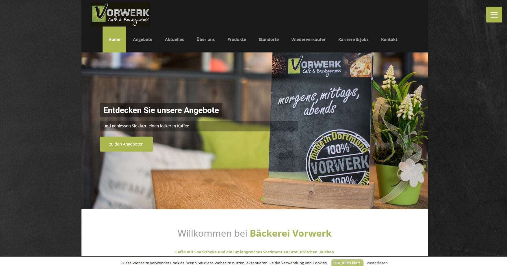 Responsive webdesign wordpress b ckerei individuelles for Hotel amical wuppertal preise