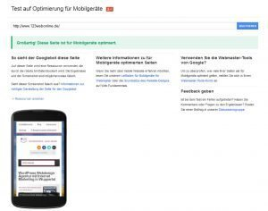 Mobile-Friendly Test -Responsive Webdesign - GOOGLE