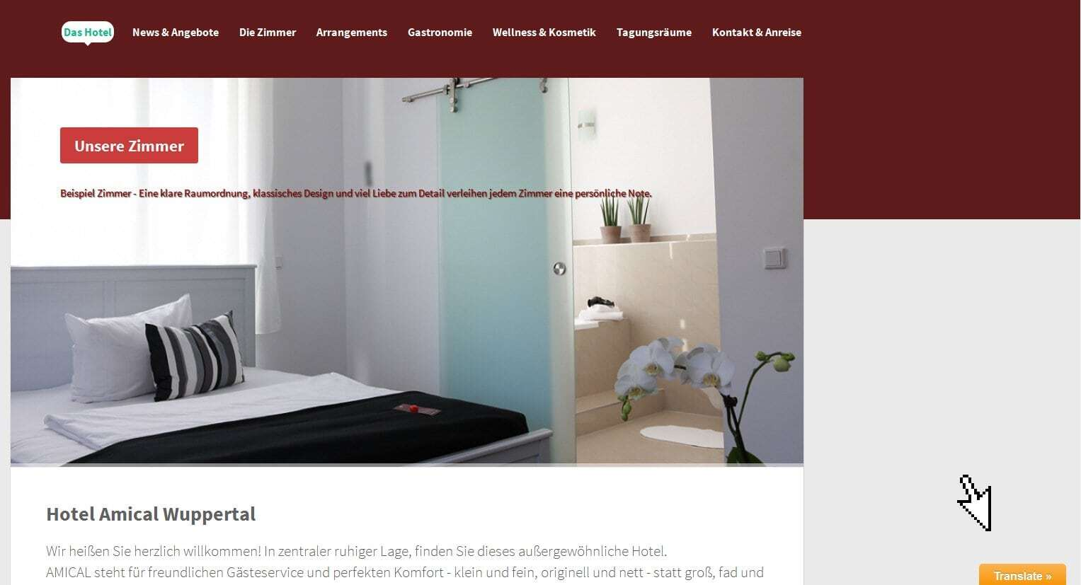 Mehrsprachigkeit mit polylang google language translator for Hotel amical wuppertal