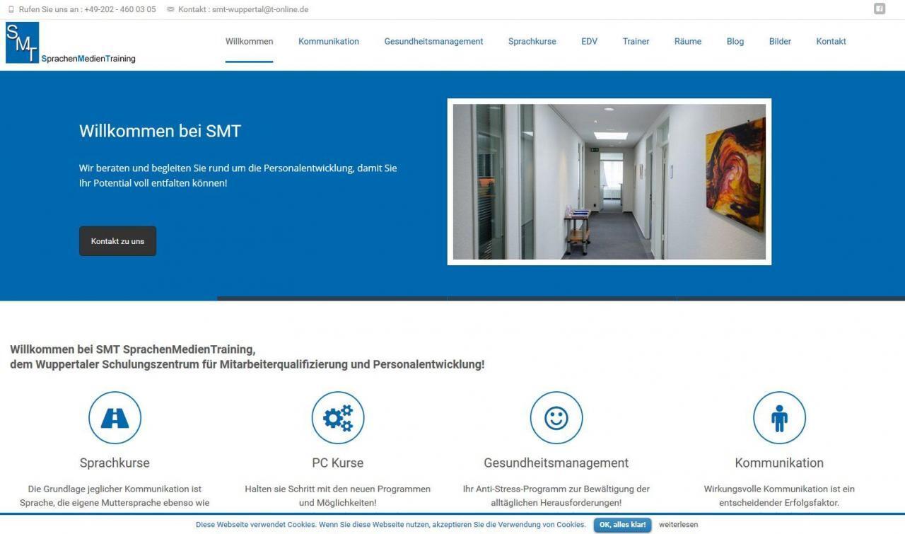 SMT SprachenMedienTraining, Wordpress für alle Endgeräte