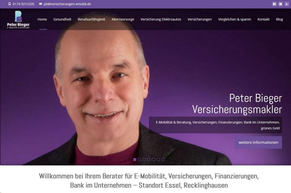 Bieger Finanz- und Versicherungsmakler in Recklinghausen WordPress mit Blog