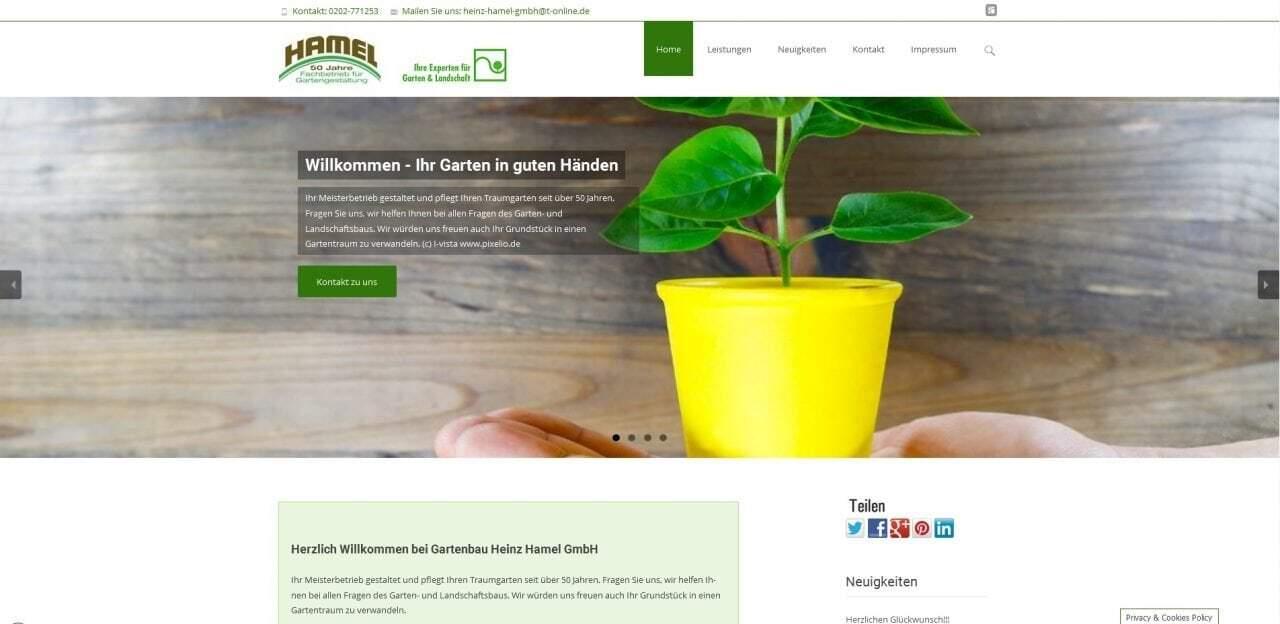 Hamel Gartenbau Wuppertal Galabau