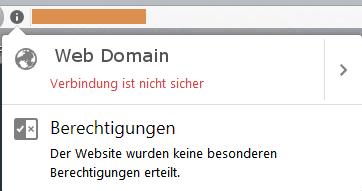 Anzeige des Firefox Browsers ohne SSL Webseiten Verschlüsselung