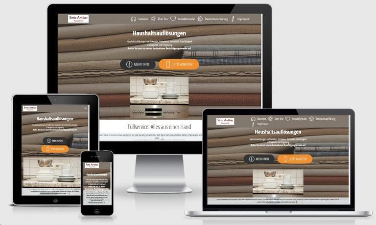 Responsive Web mit Mobirise Bootstrap 123haushaltsaufloesungen Wuppertal