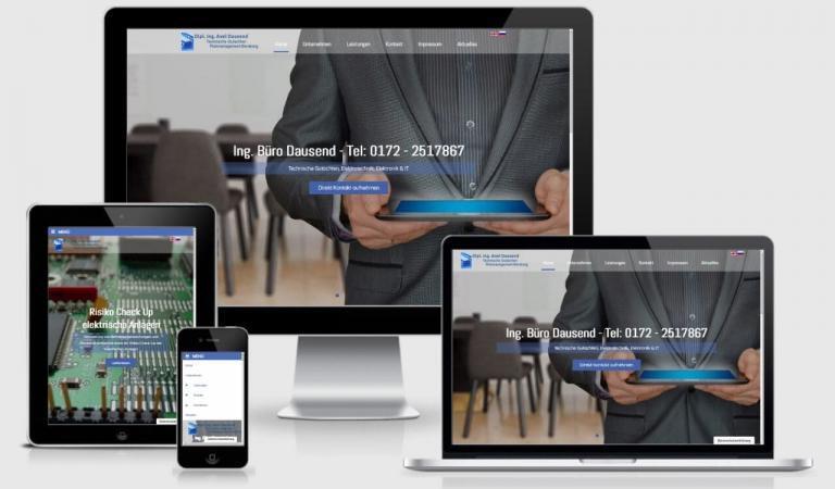 WordPress Webdesign Responsiv Full Slider Ing Büro