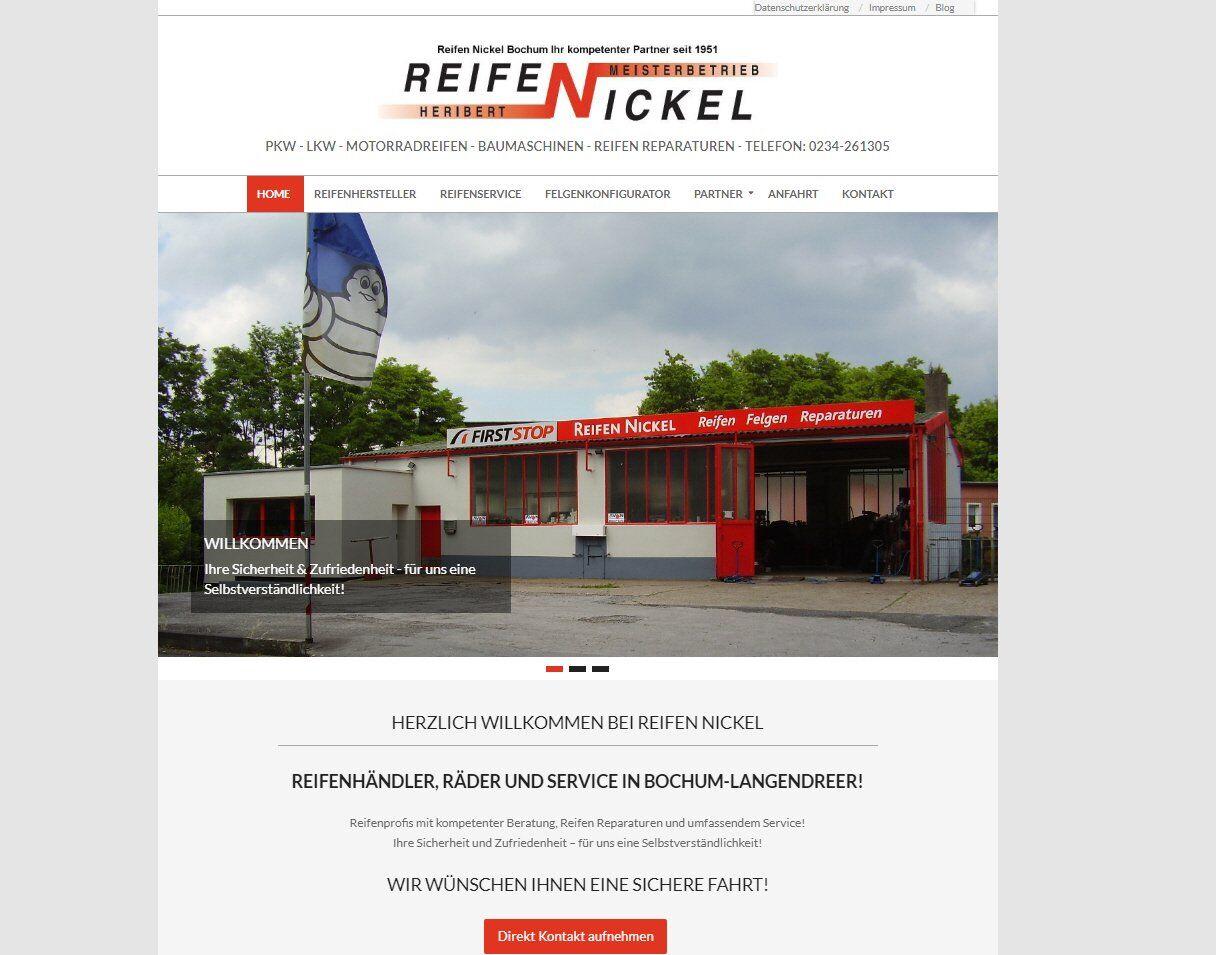 Wordpress Webdesign Reifen Nickel