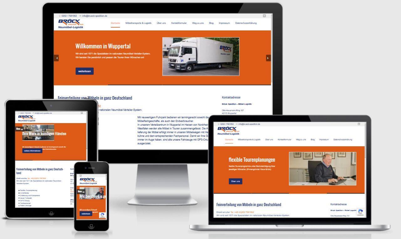 Spedition corporate Webdesign WordPress Wuppertal