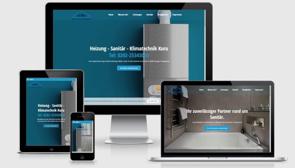 WordPress Realisierung für Meisterbetrieb Sanitär