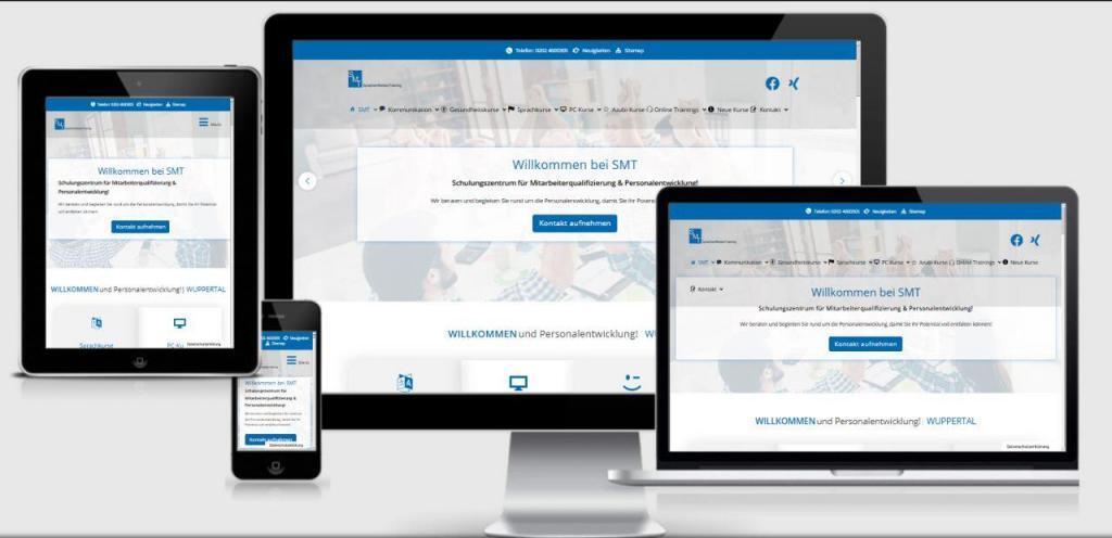 SMT SprachenMedienTraining, Schulungsunternehmen, WordPress für alle Endgeräte